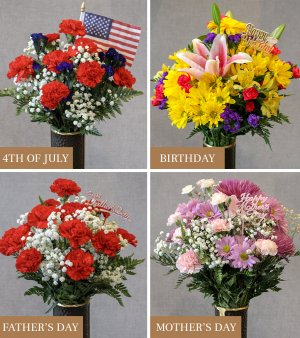 Pinlawn collage bouquets