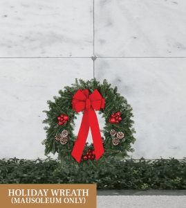 Holiday wreath mausoleum only